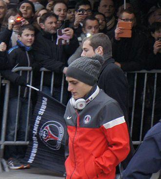 Marco Verratti - Verratti with Paris Saint-Germain in March 2013.