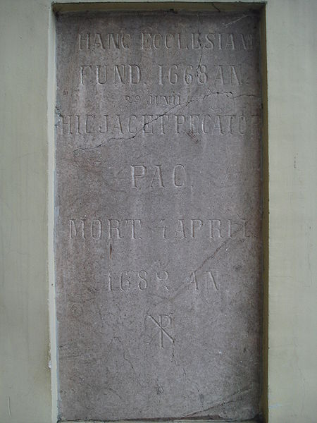 Файл:Pac plaque in the St Peter and St Paul Church in Vilnius.JPG