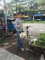 Painter in Sidewalk of Jiankang Road, Taipei 20160528a.jpg