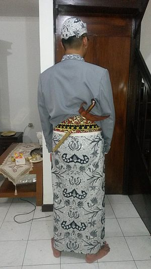 Javanese culture - Rear view.