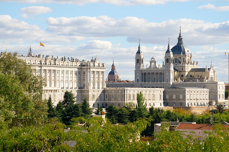 Royal Palace and Santa María la Real de La Almudena, Spain