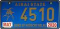 Palau license plate Airai 2020 b.png
