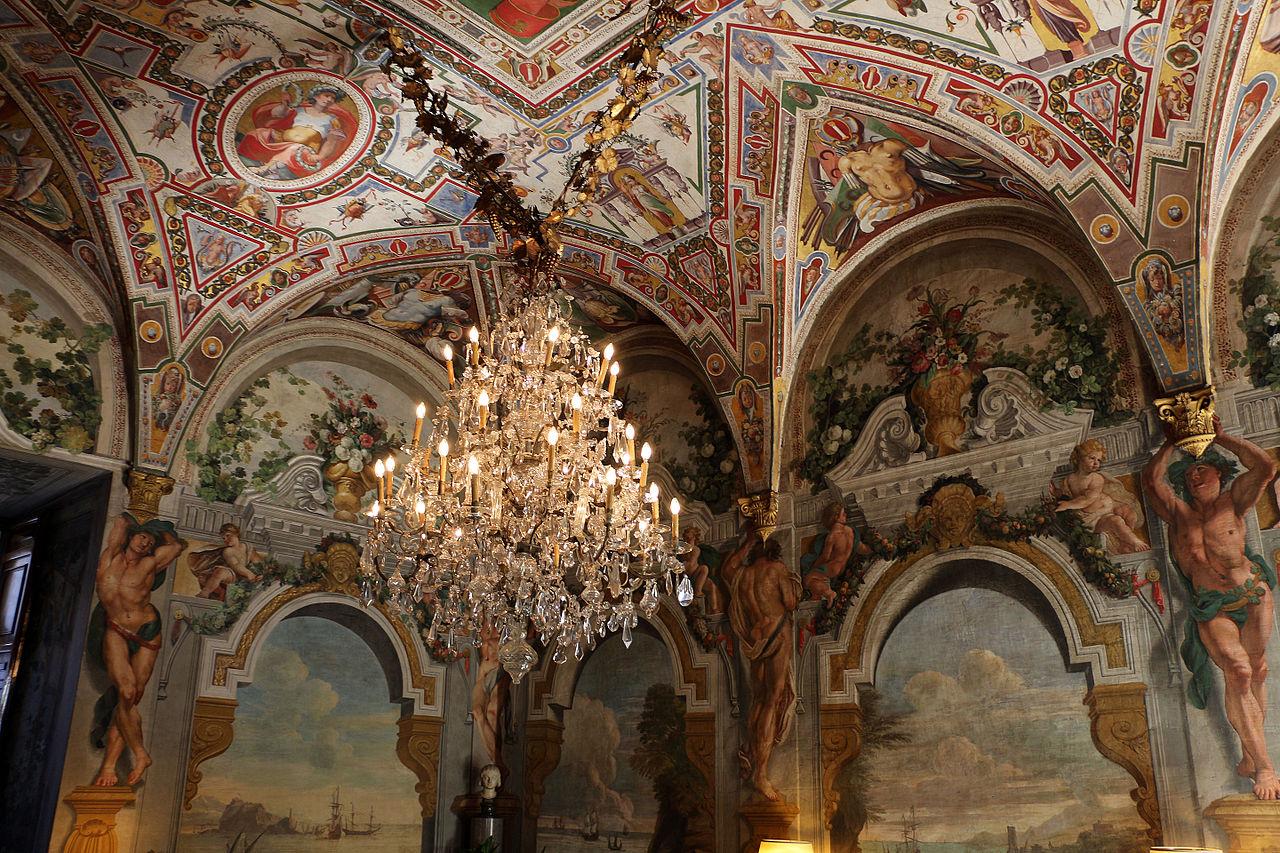 Palazzo colonna, appartamento della principessa isabelle, sala del tempesta, affreschi di cristoforo pomarancio e scuola 01.JPG