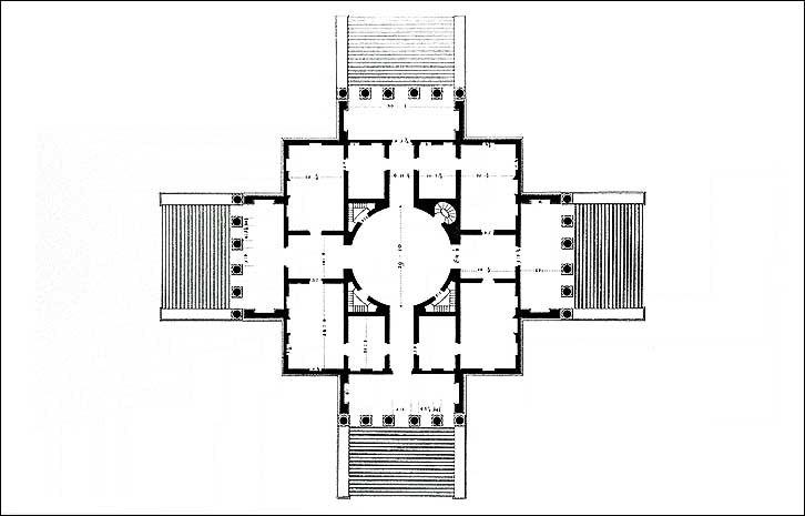 Palladio Rotonda planta Scamozzi 1778