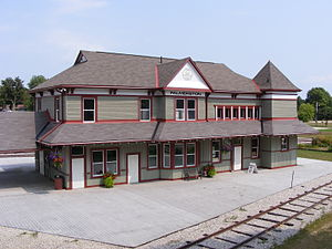 Palmerston, Ontario - Former Palmerston train station, now museum