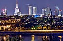 Panorama of Warsaw by night (cropped) .jpg