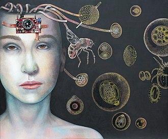 Parasites in fiction - Parasites by Katrin Alvarez. Oil on canvas, 2011