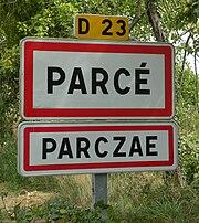 Parcé - panneau D23