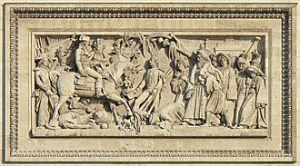 "Battle of Abukir (1799) - ""The Battle of Aboukir"", relief by Bernard Seurre on the South Façade of the Arc de Triomphe, Paris."
