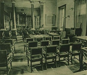 House of Commons of Northern Ireland - Chamber of the House of Commons when at Assembly's College, in 1921