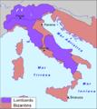 Partiment d'Itàlia entre Lombards e Bizantins.png