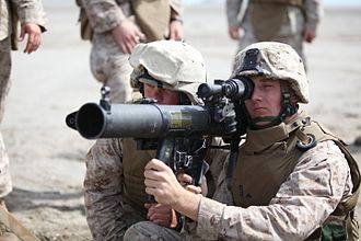 Mk 153 Shoulder-Launched Multipurpose Assault Weapon (SMAW) - Image: Partnership of the Americas Southern Exchange 2010 DVIDS299288