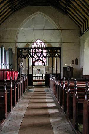 Paston, Norfolk - Interior of St Margaret's Church, Paston