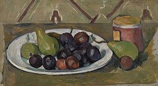 Plate with Fruit and Pot of Preserves (Assiette avec fruits et pot de conserves)