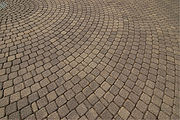 Regular concrete paving blocks