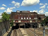 Pawtucket-Central Falls station from Barton Street (2), August 2015.JPG