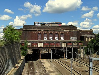 Providence/Stoughton Line - Crumbling station at Pawtucket/Central Falls, last used in 1981