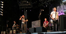 A Day to Remember op het Zweedse festival Peace & Love in Borlänge in 2010