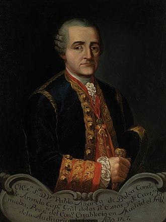 Captain general (Spain) - Image: Pedro Pablo Abarca de Bolea, Count of Aranda