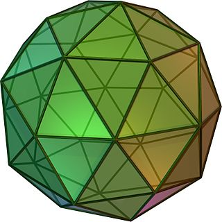 Hexecontahedron polyhedron with 60 faces
