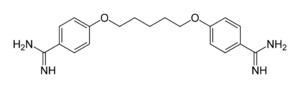 Strukturformel von Pentamidin