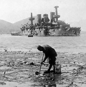 Peresvet-class battleship - Peresvet scuttled in Port Arthur