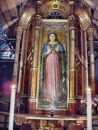 Perugia Cathedral - The Madonna delle Grazie, attributed to Giannicola di Paolo