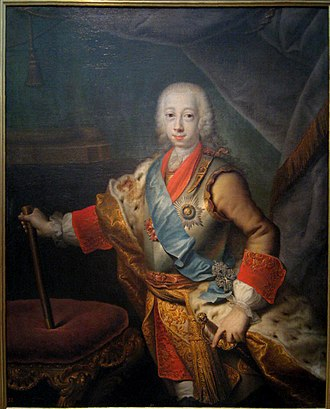 Siege of Kolberg (Seven Years' War) - Image: Peter III of Russia by Grooth (1743, Tretyakov gallery)