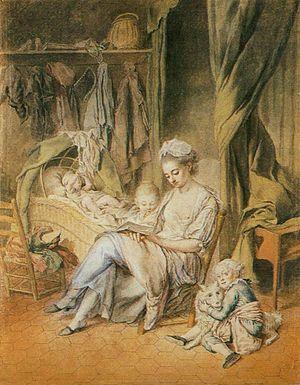 Johann Anton de Peters - The happy mother, ca. 1775, now in the Wallraf-Richartz Museum