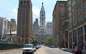 Broad Street (Philadelphia) - North Broad Street, looking towards City Hall