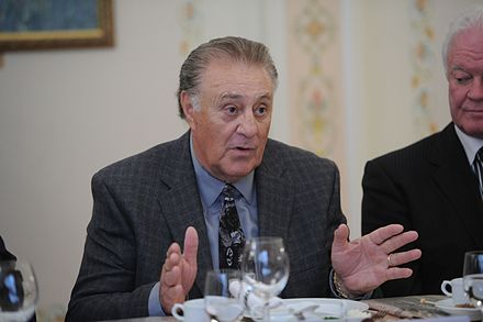 Phil Esposito fronted an ownership group that was later awarded an NHL franchise in 1992. Philip Esposito, February 2012.jpeg