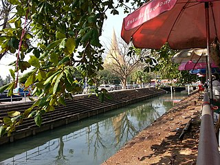 Canal in Nakhon Pathom, Thailand