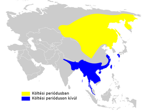Phylloscopus fuscatus distribution map.png