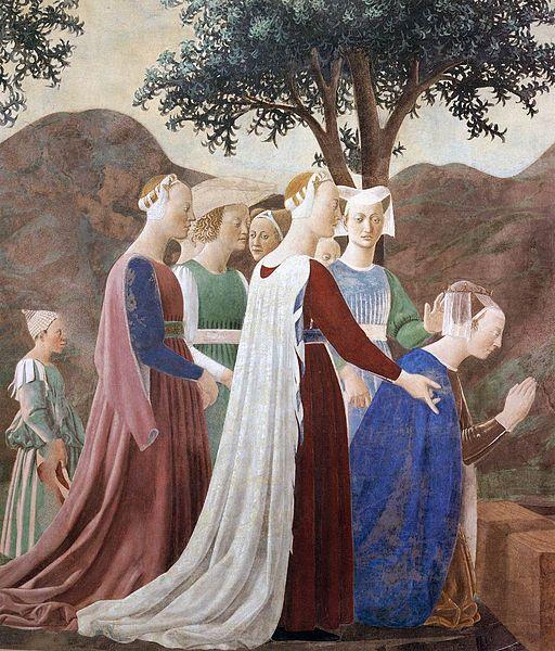 Piero della Francesca, Adorazione della Croce (particolare)