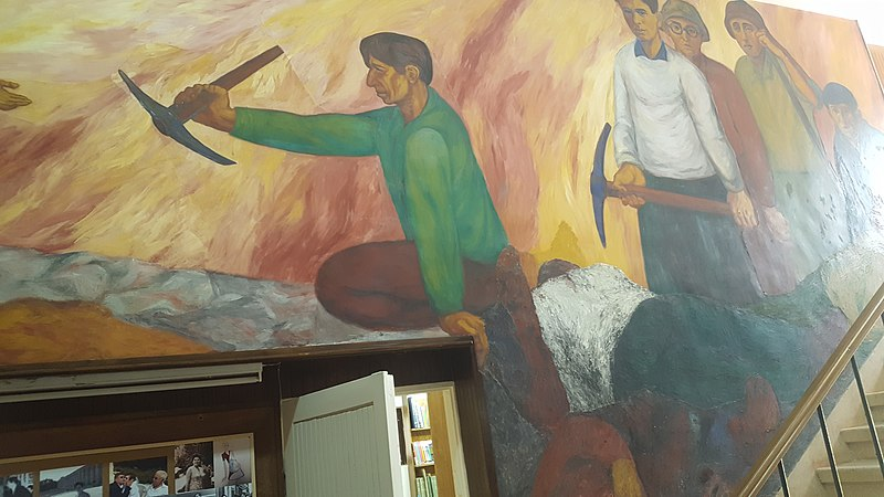 ציור קיר בקיבוץ מעלה החמישה