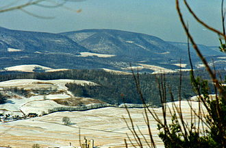 Pine Knob (Pennsylvania) - View of Pine Knob from Evitts mountain