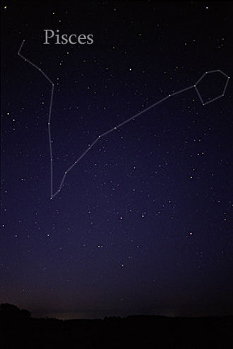 Pisces (constellation) - The constellation Pisces as it can be seen by naked eye.