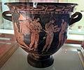 Pittore degli argonauti (etrusco), cratere con personaggi maschili nudi, probabilm. argonauti, 400-380 ac ca, da chiusi 01.JPG