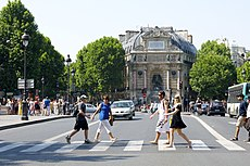 Place Saint-Michel, Paris June 2010.jpg