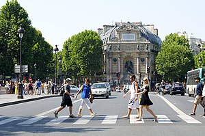 Place Saint-Michel - The place Saint-Michel and the fontaine Saint-Michel, Paris