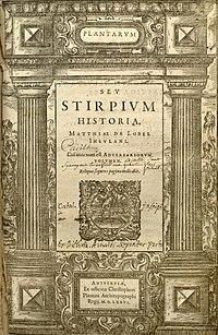 Plantarum Seu Stirpium Historia cover