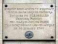 Plaque Jacques de Flesselles, 52 rue de Sévigné, Paris 3.jpg
