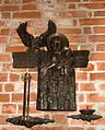 Plaque to Virgin Mary from workers of Solidarność in Church of St. Bridget in Gdańsk.jpg