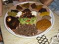 Plat de cuisine éthiopienne au Ménélik.JPG