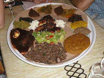 Plat de cuisine éthiopienne