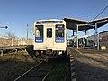 Platform and train for Imari Station at Matsuura Station.jpg
