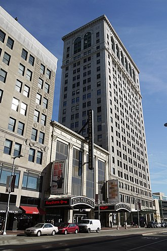 Playhouse Square - The Ohio and State Theatres and Connor Palace are on the north side of Euclid Avenue.