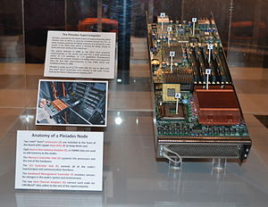 Pleiades (supercomputer) - Anatomy of a Pleiades node, shown on display at the NASA Ames Exploration Center, in Mountain View, California
