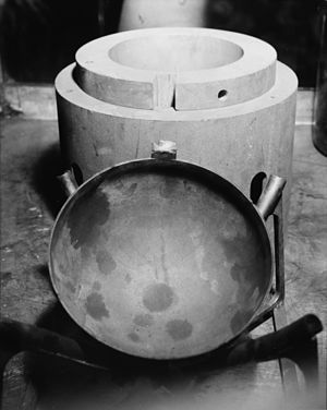 Pit (nuclear weapon) - Precision plutonium foundry mold, 1959