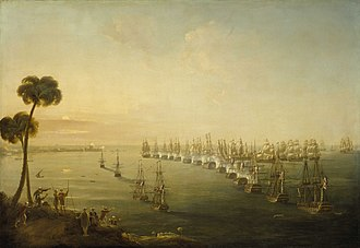 Battle of the Nile - The Battle of the Nile, 1 August 1798, Nicholas Pocock, 1808, National Maritime Museum